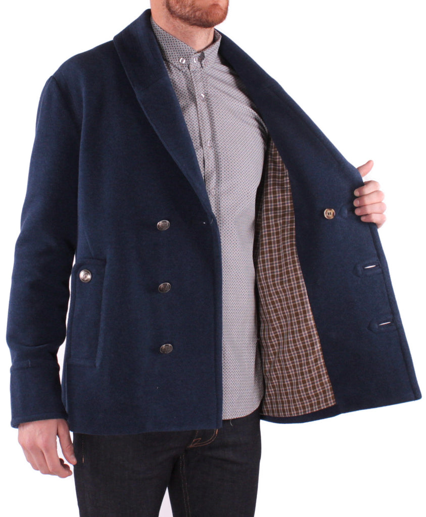 J222 Shawl Carcoat - Indigo