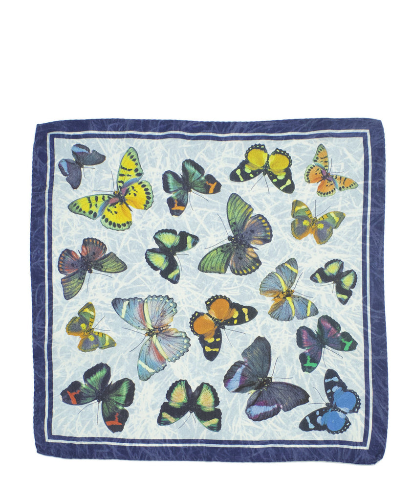 C&T Silk Pockerchief - Mariposa