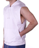 T209 Sleeveless Hood - White