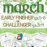 March Early Finisher/Challenger Packet [Grades 3-6]
