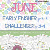 June Early Finisher/Challenger Packet [Grades 3-6]