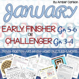 January Early Finisher/Challenger Packet [Grades 3-6]