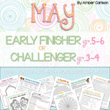 May Early Finisher/Challenger Packet [Grades 3-6]