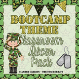 Boot Camp Theme Classroom Decor Pack [Editable]