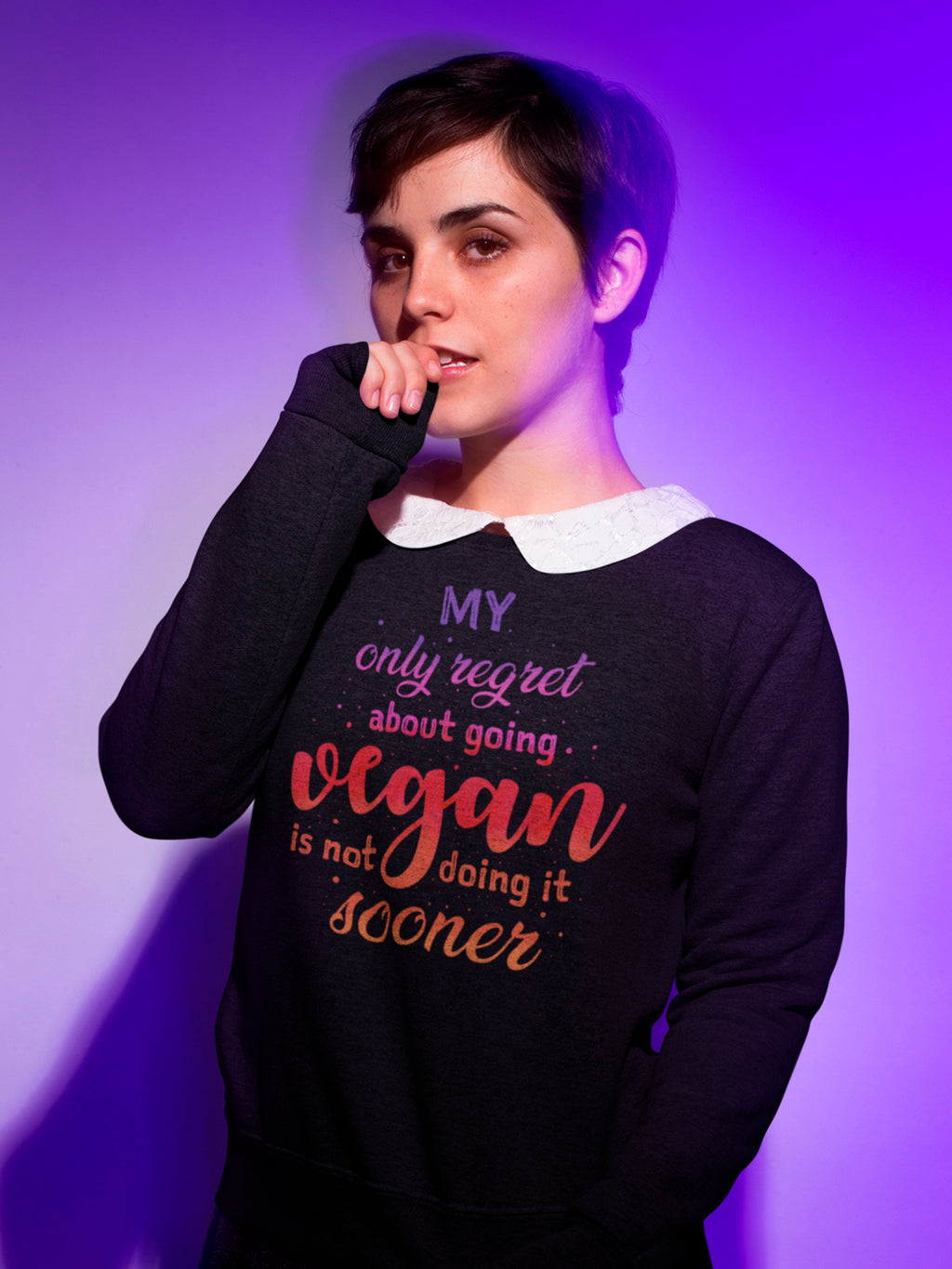 About going vegan sweatshirt