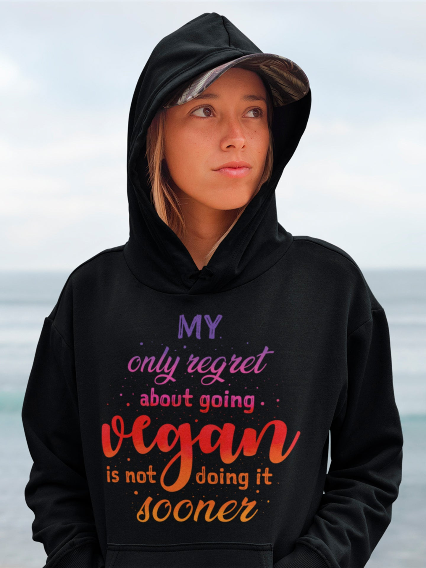 About being vegan hoodie