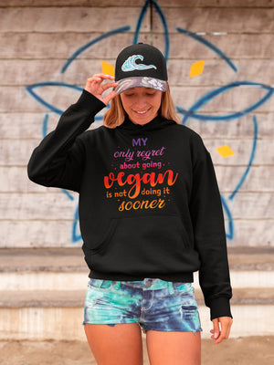 My only regret about going vegan is not doing it sooner hoodie