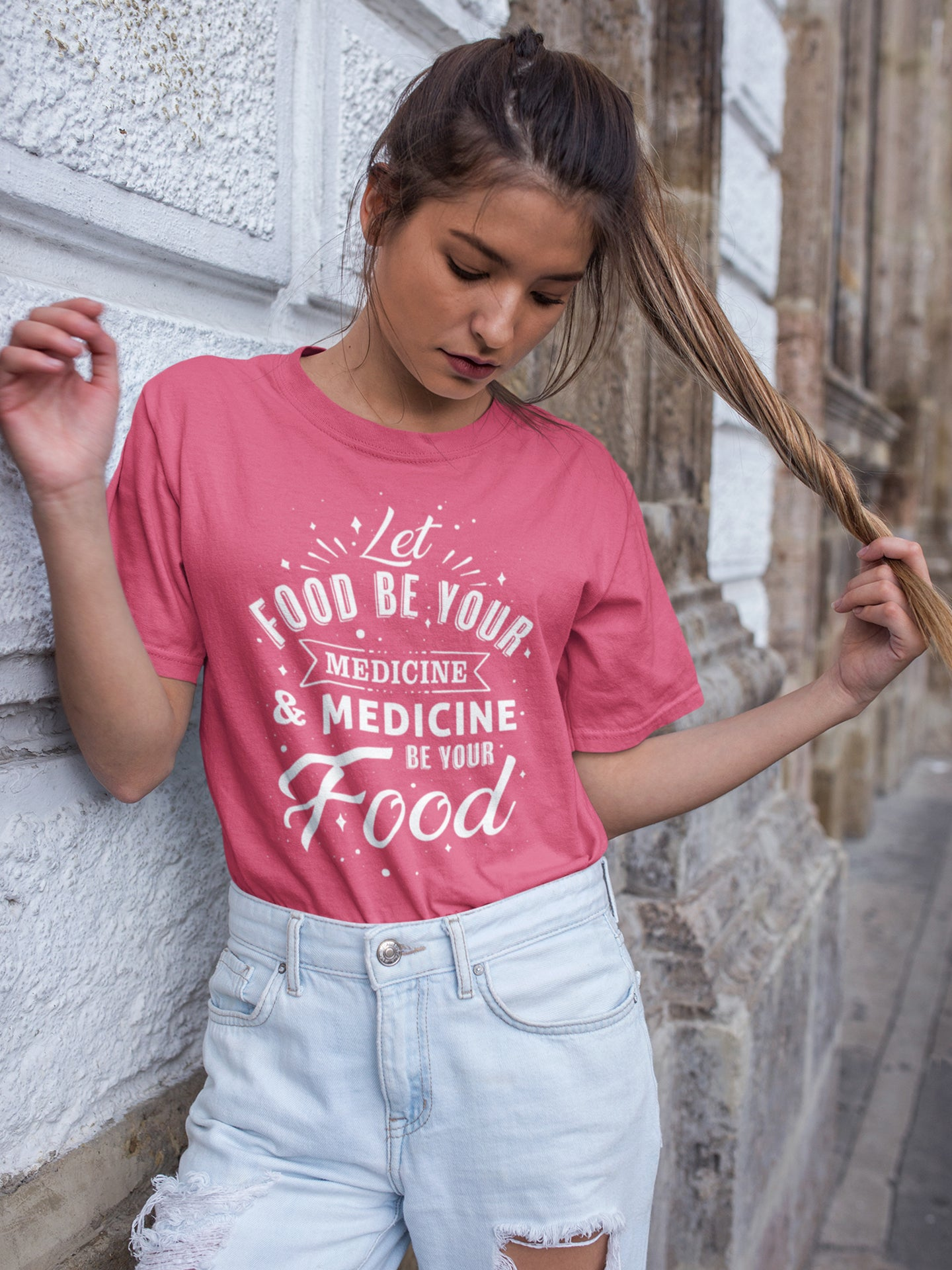 Let food be your medicine - Vegan t-shirt