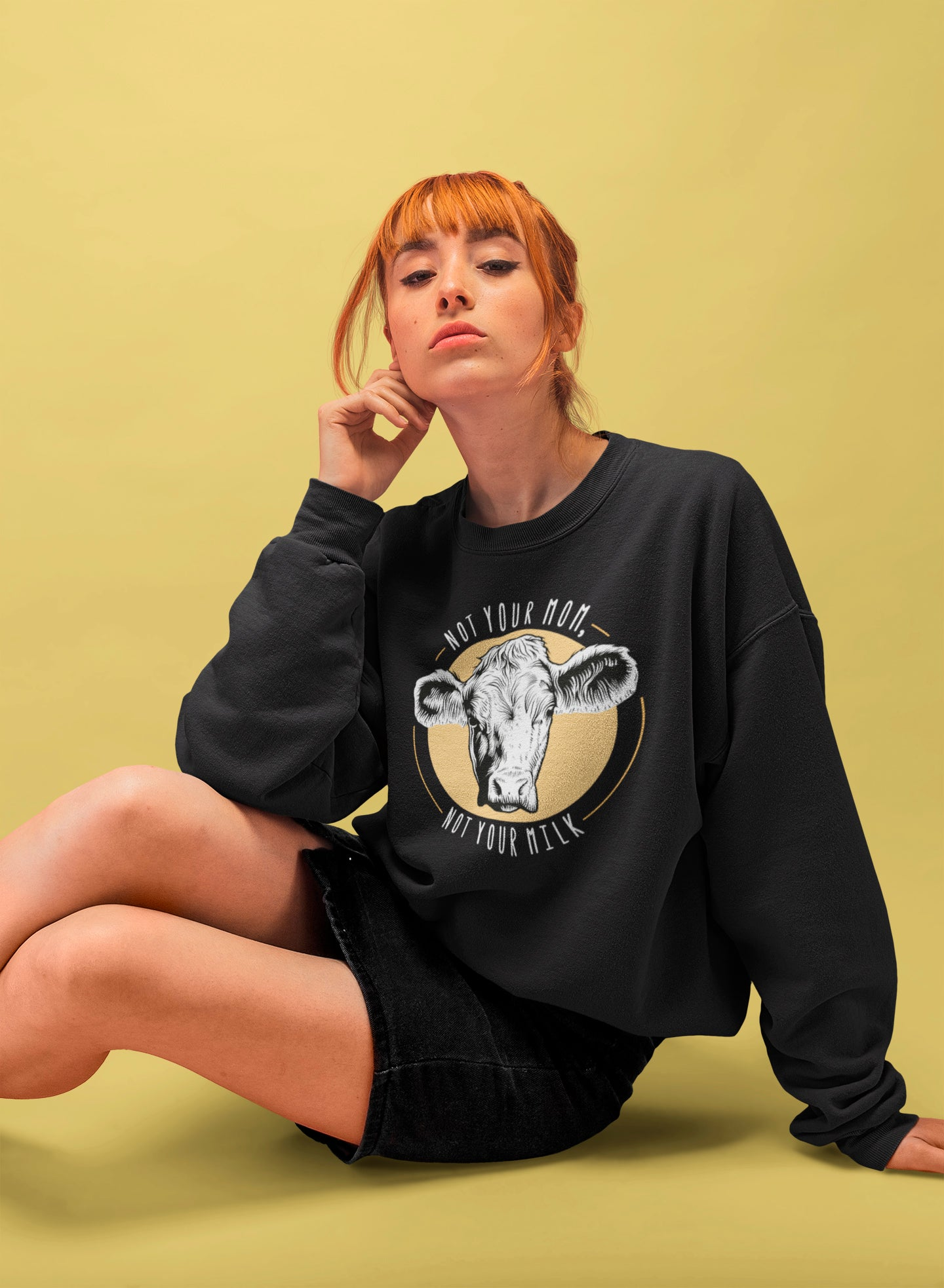 Not your mom, not your milk - Vegan sweatshirt