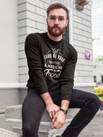 Let food be your medicine - White text sweatshirt for man