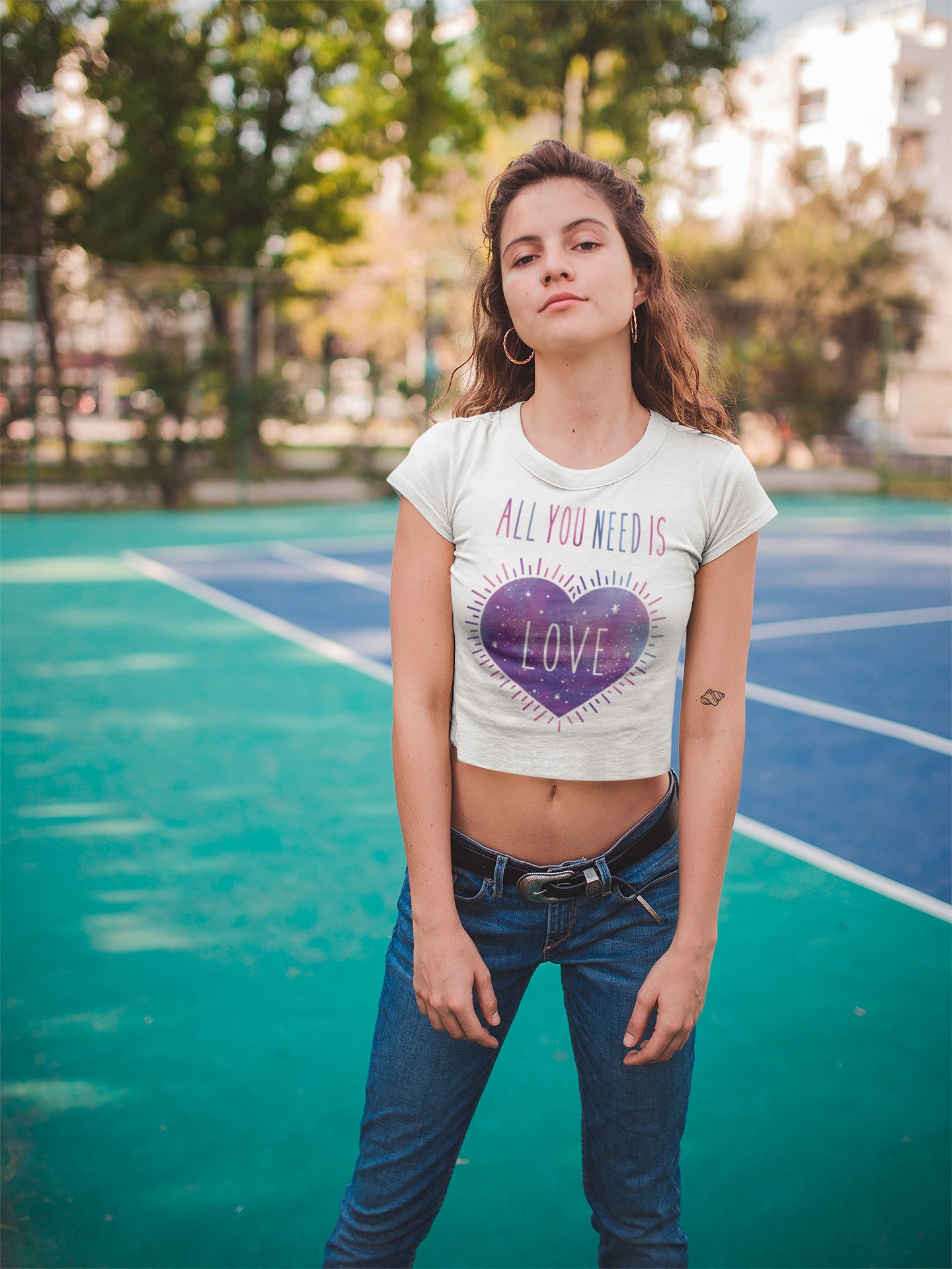 All you need is love crop top