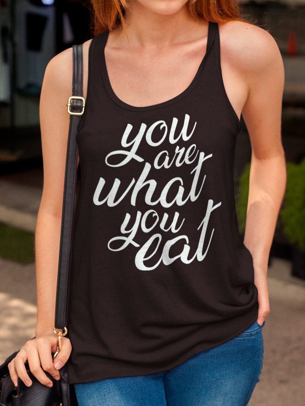 You are what you eat - Woman's vegan tank top