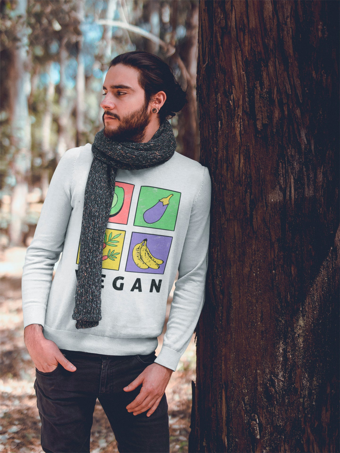Vegan sweatshirt for man