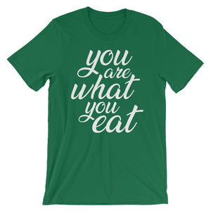 You are what you eat, geen t-shirt
