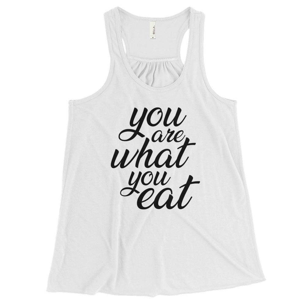 You are what you eat - Vegan tank top - White