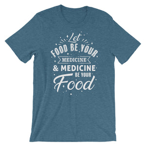 Let food be your medicine - Vegan t-shirt - Blue