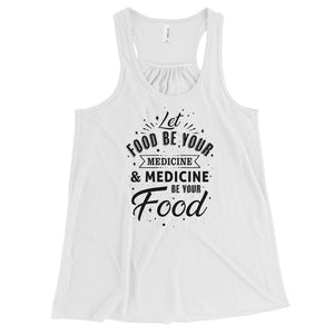 Let food be your medicine - Vegan tank top - White