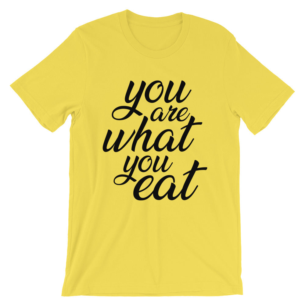You are what you eat - Yellow t-shirt