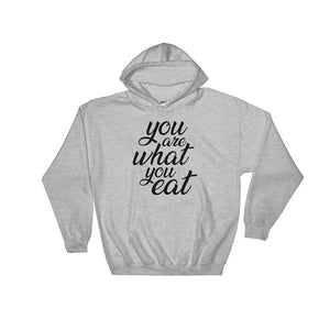 You are what you eat - Woman's vegan hoodie - Grey