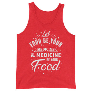 Let food be your medicine - Vegan tank top - Red