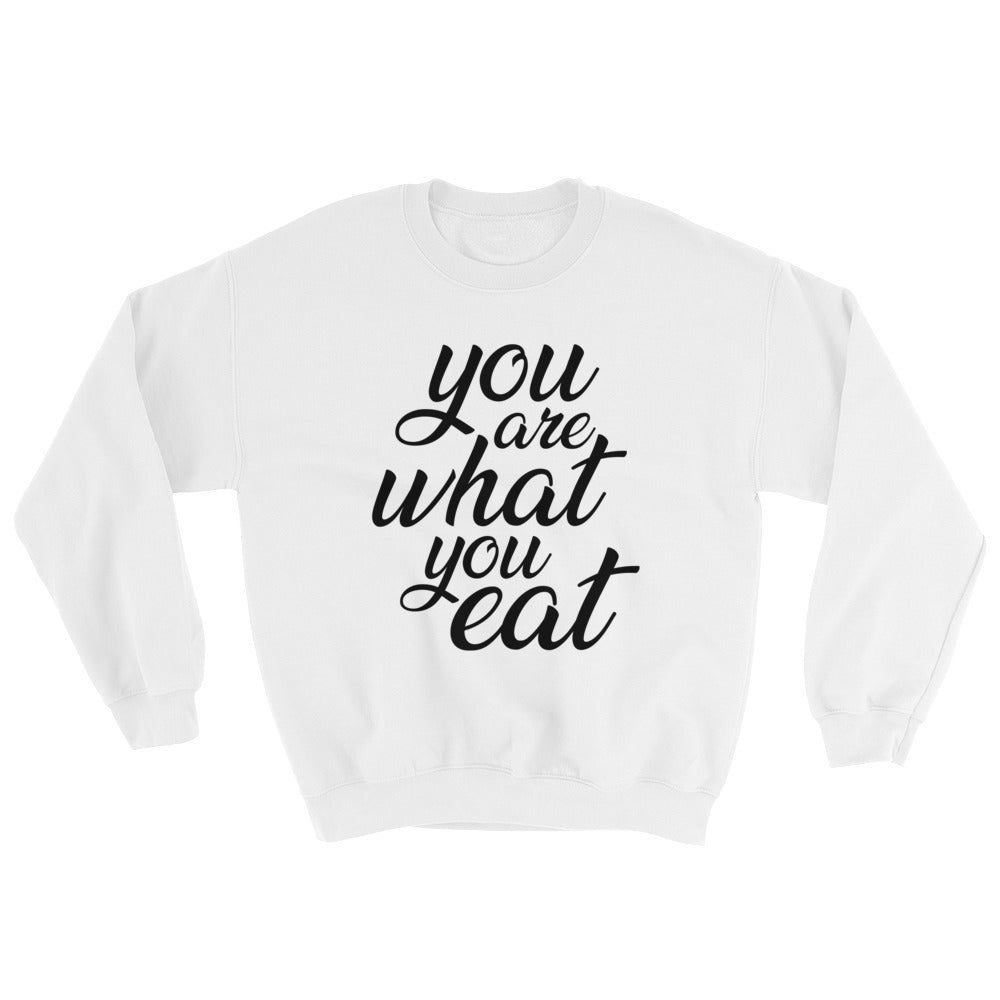 You are what you eat - Woman's vegan sweatshirt - White