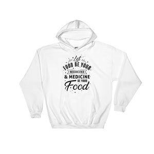 Let food be your medicine - Vegan hoodie - White