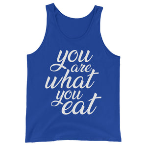 You are what you eat - Vegan tank top - Blue