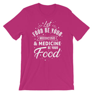 Let food be your medicine - Woman's vegan t-shirt - Berry