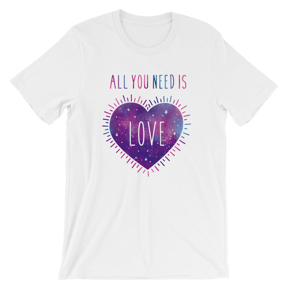 All you need is love t-shirt - vegan