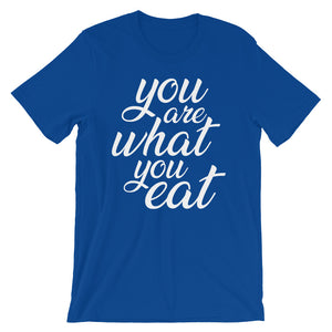 You are what you eat, blue t-shirt