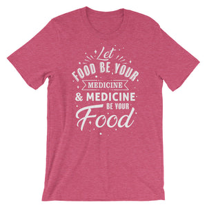 Let food be your medicine - Woman's vegan t-shirt - Raspberry
