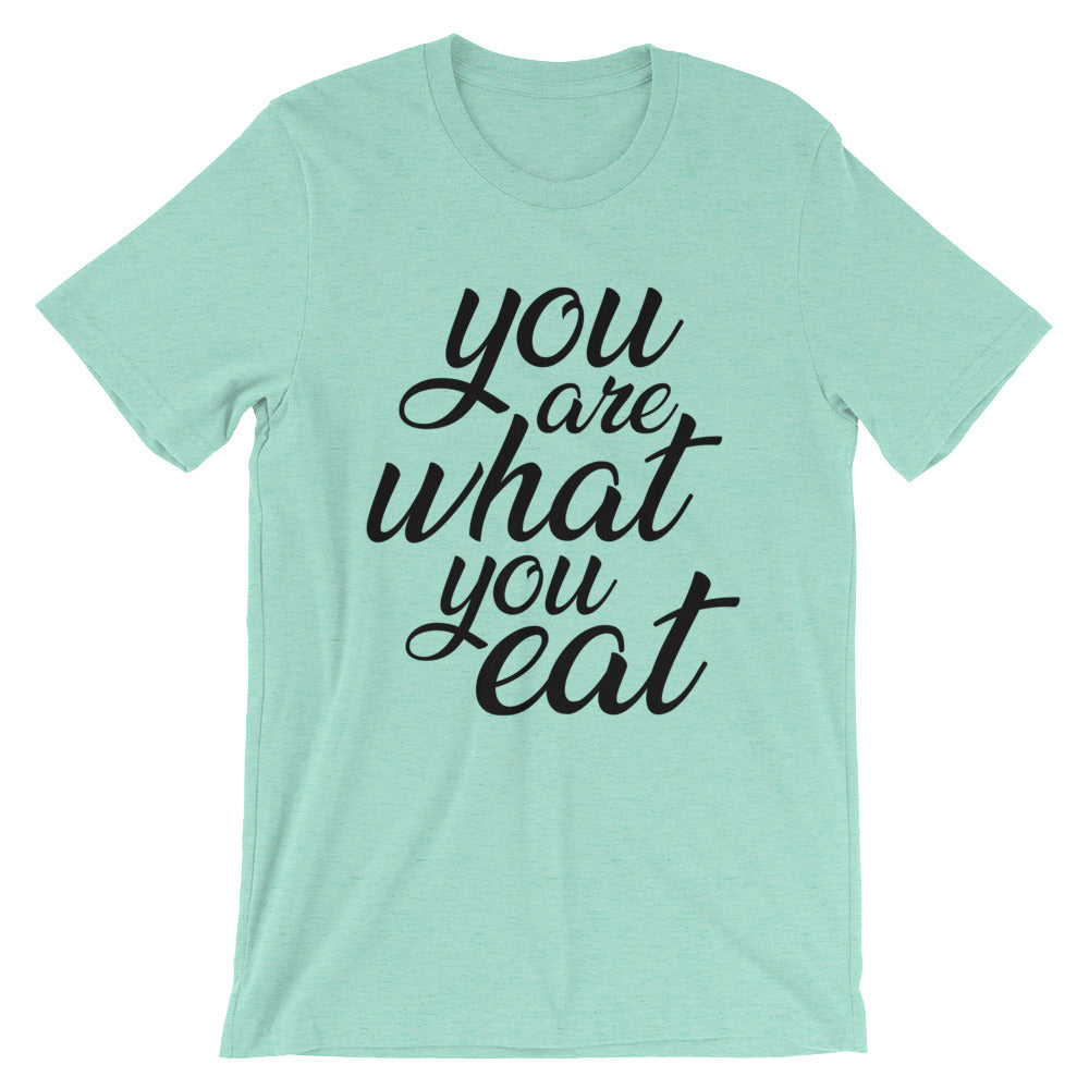 You are what you eat - T-shirt mint color