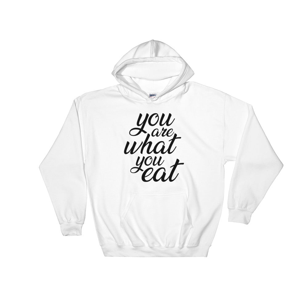 You are what you eat - Woman's vegan hoodie - White