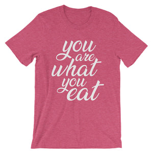 You are what you eat - Vegan t-shirt - Raspberry color