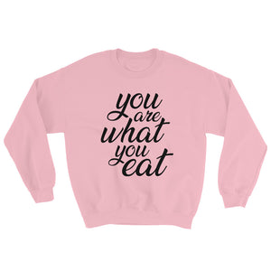You are what you eat - Woman's vegan sweatshirt - Pink