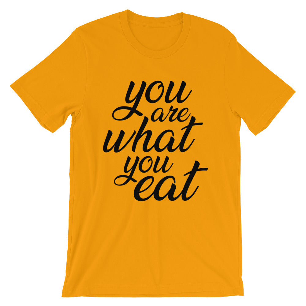 You are what you eat - Orange t-shirt