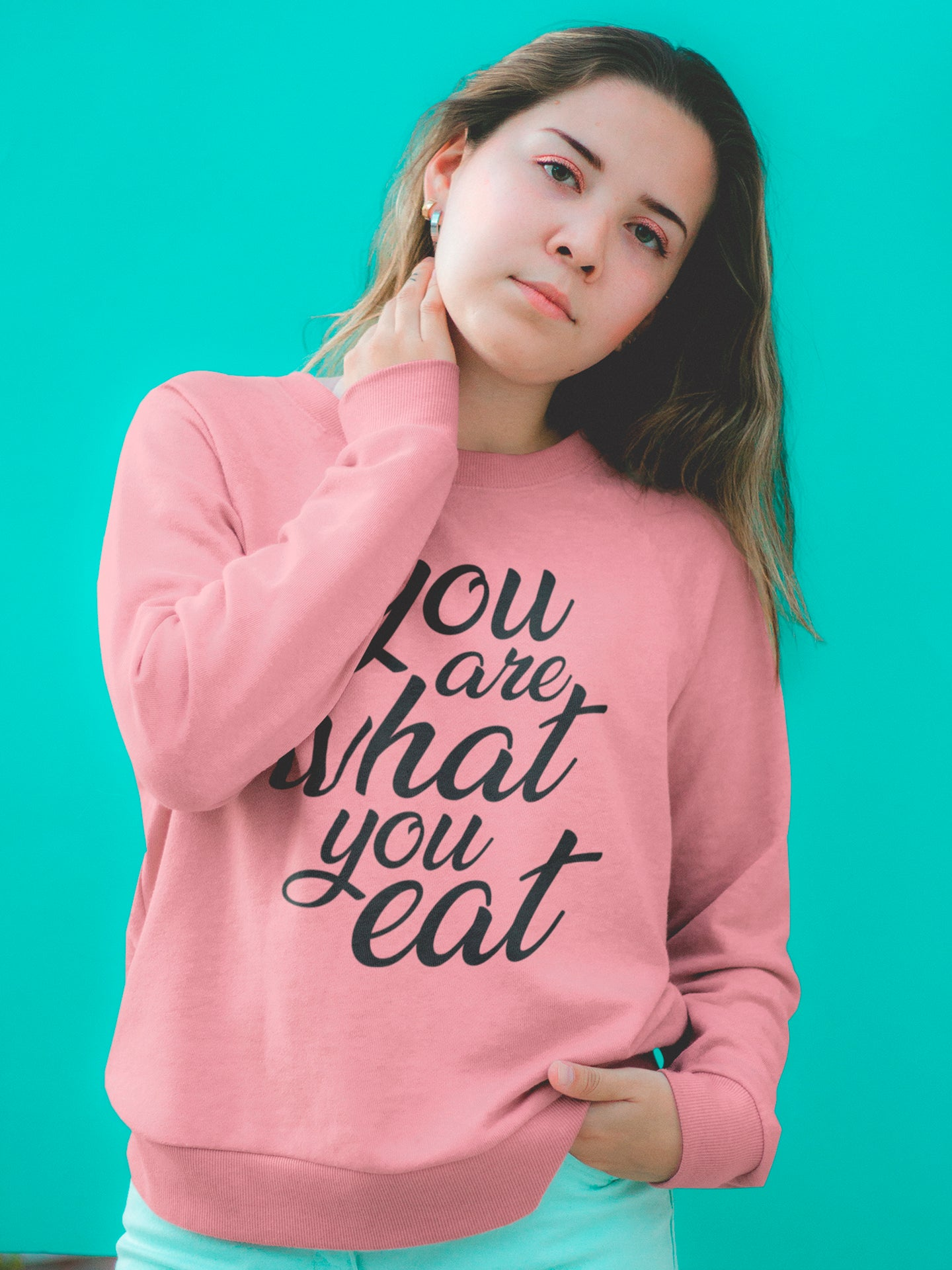 You are what you eat - Woman's vegan sweatshirt