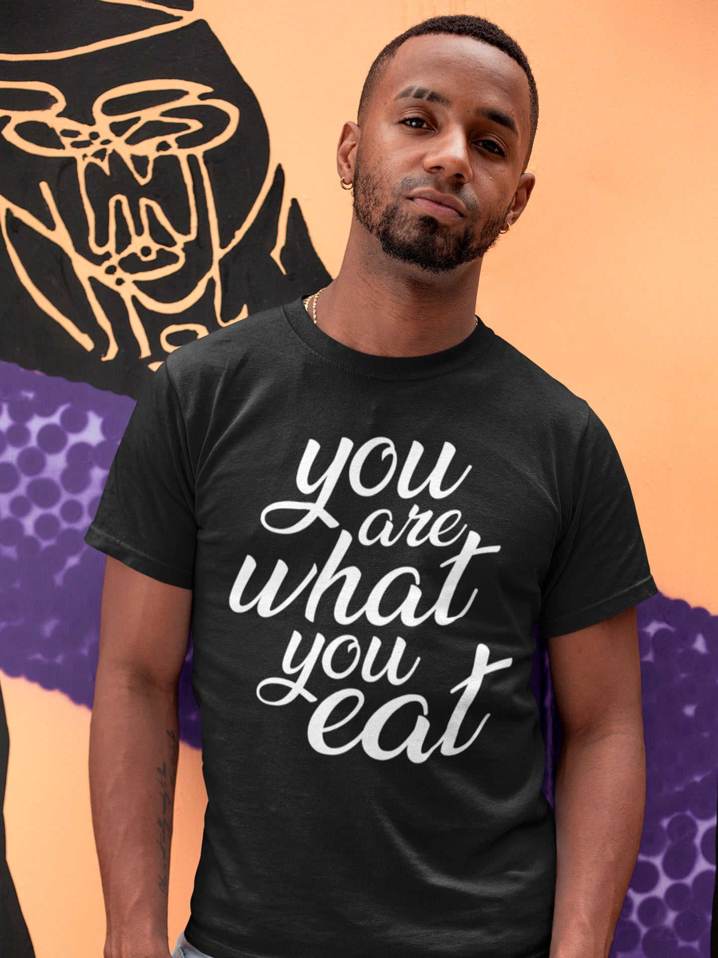 You are what you eat - Man's vegan t-shirt