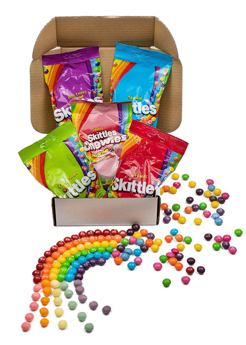 Skittles 5 Pack Hamper Box (Fruits/Crazy Sours/Chewies/Tropical & Wild Berry)