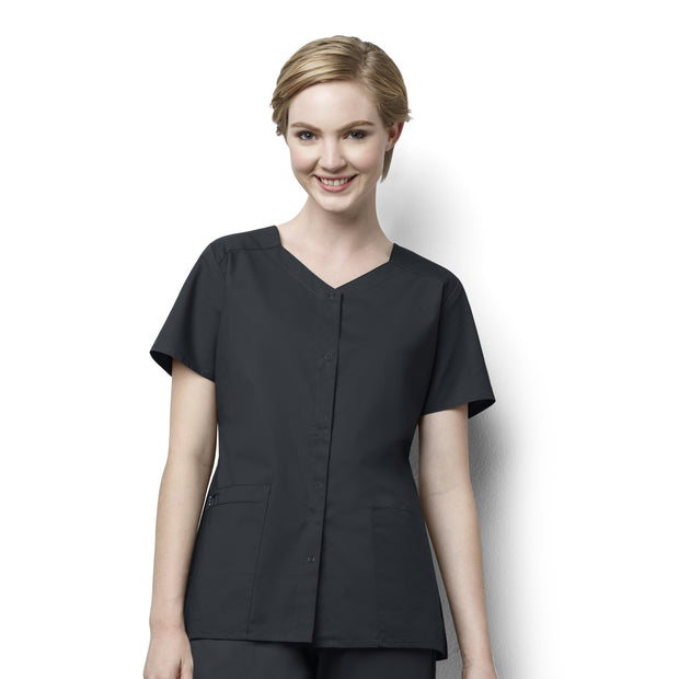 Wonderwork Short Sleeve Snap Top - Womens