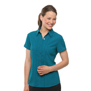 City Collection City Stretch Spot Shirt Cap Sleeve - Womens