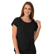 City Collection Cascade Knit Top - Womens