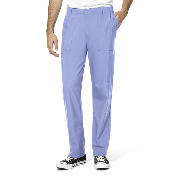 WonderWink W123 Full Elastic Waistband Cargo Scrub Pants - Mens