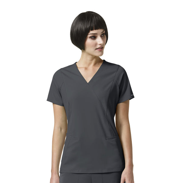 Wonderwink HP Axis Mock Wrap Top - Womens