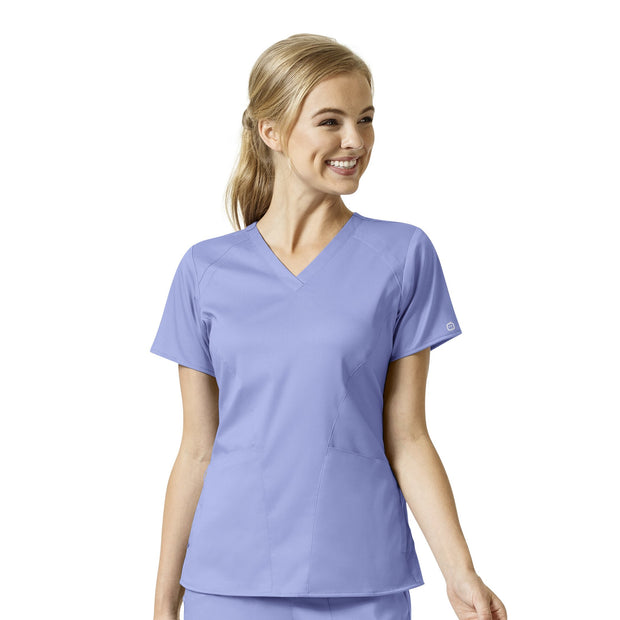 Wonderwink PRO 4 Pocket V-Neck Top - Womens