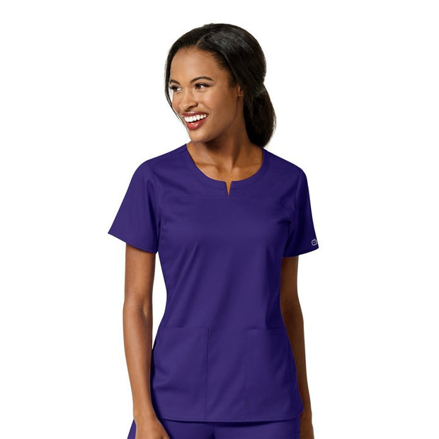 Wonderwink PRO 4 Pocket Notch Neck Top - Womens