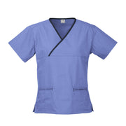Biz Collection Contrast Scrub Top - Womens