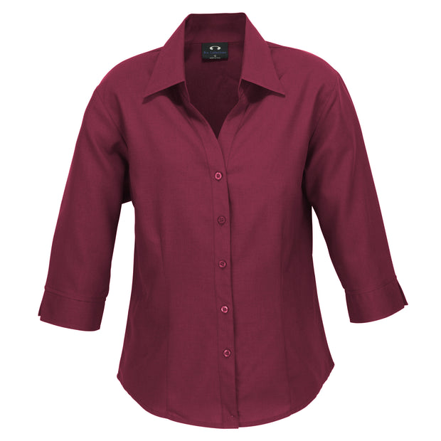 Biz Collection Plain Oasis Shirt 3/4 Sleeve - Womens