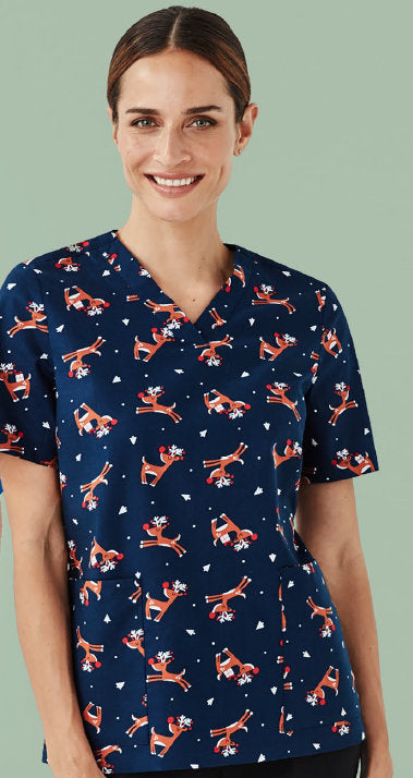 Biz Collection Christmas Scrub Top - Unisex