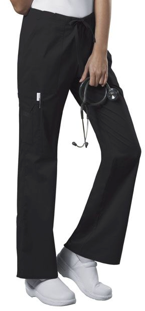 Cherokee Core Stretch  Mid Rise Drawstring Cargo Pant - Women